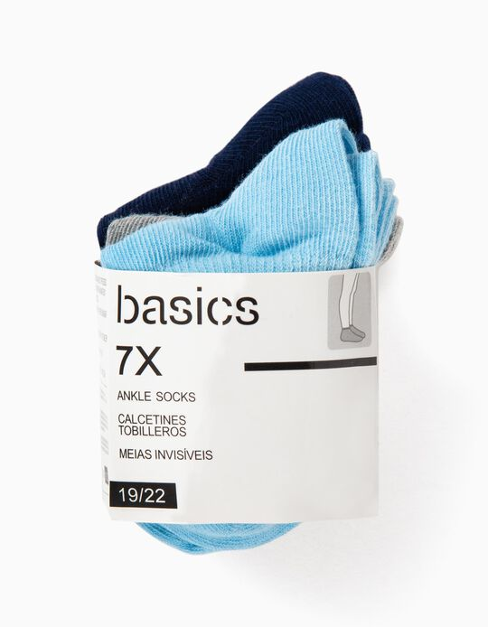 Pack of 7 Pairs of Ankle Socks