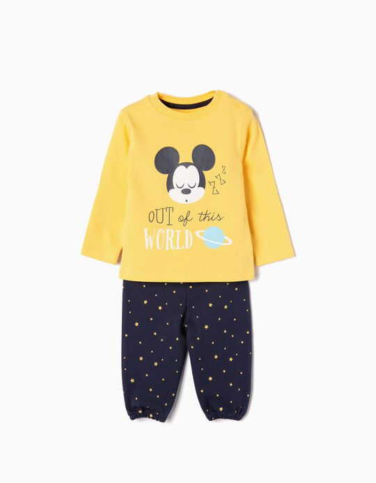 Pijama para Bebé Menino 'Mickey Out of This World', Amarelo e Azul