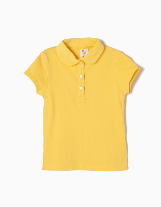 Polo Manga Curta Amarelo