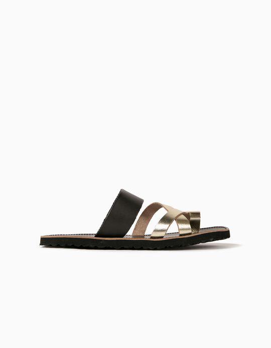 Toe Sandals, Leather, Women