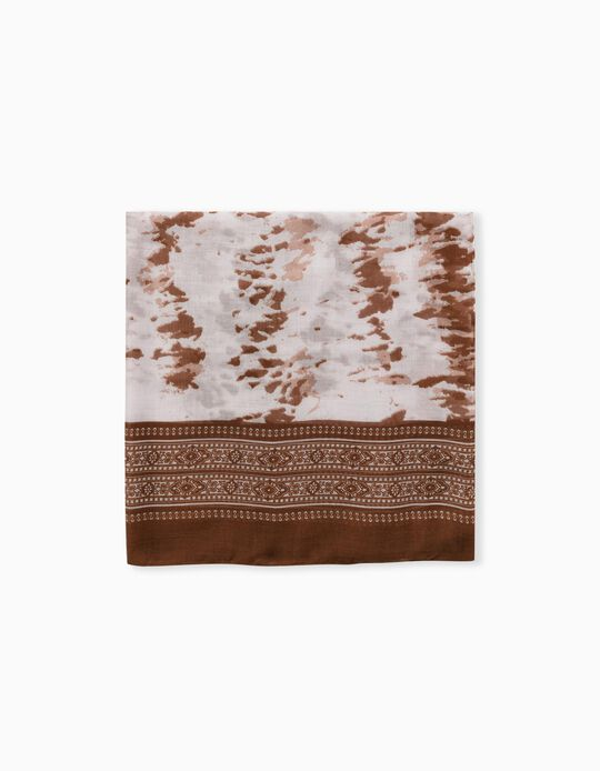 Printed Scarf for Women, Brown