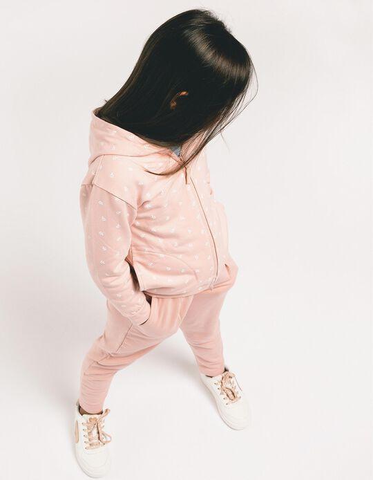 Tracksuit for Girls 'Leaves', Light Pink