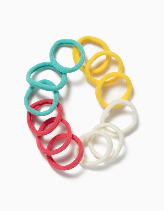 12-Pack Hair Elastic Bands for Girls,