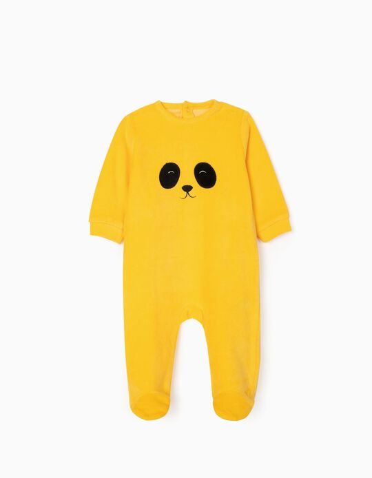 Sleepsuit for Babies 'Puppy', Yellow