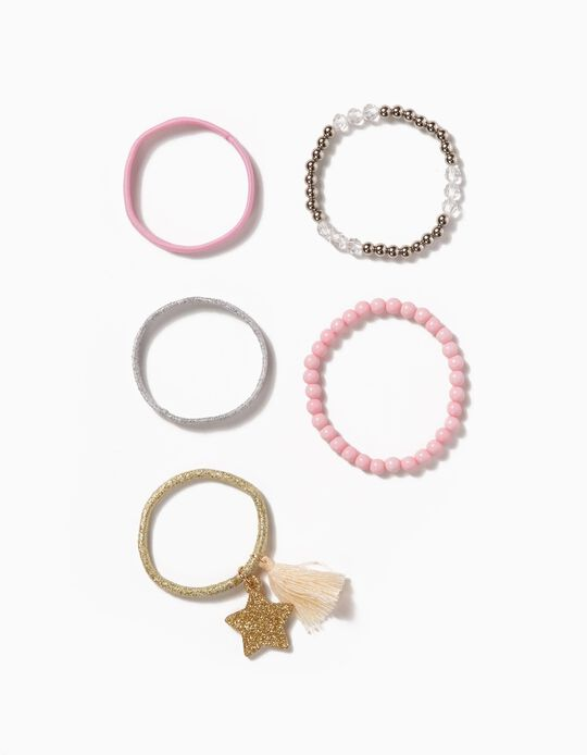 Pack of 5 Elasticated Bead Bracelets