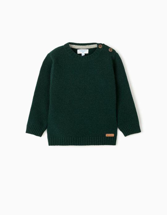 Camisola de Lã para Bebé Menino 'B&S', Verde