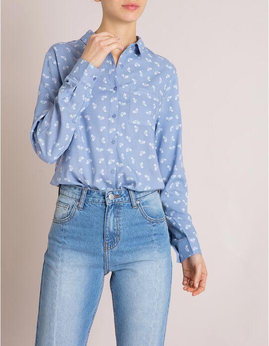 Camisa Viscose Azul