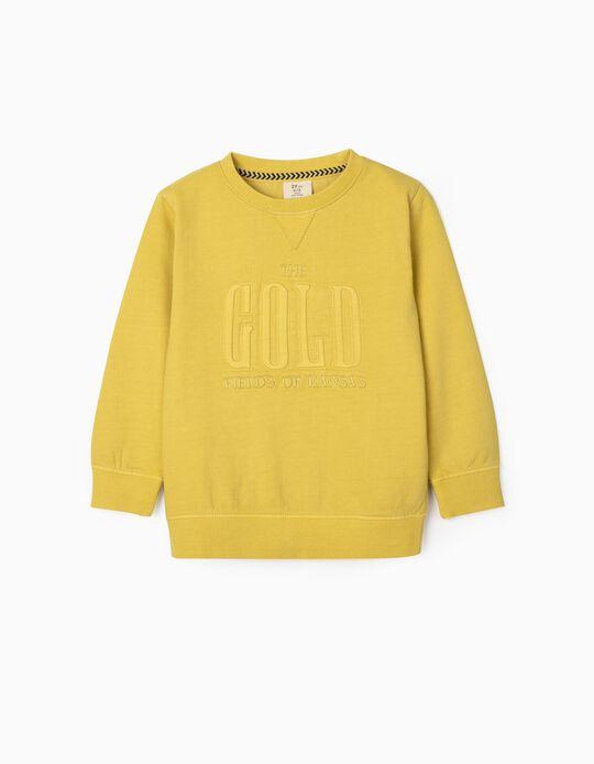 Sweatshirt for Boys, 'Kansas', Yellow