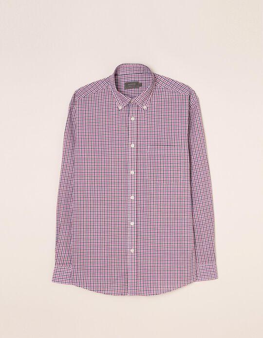 Camisa com padrão tartan da gama Essentials