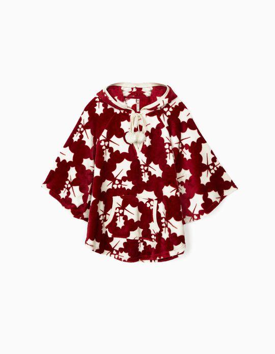Xmas polar fleece poncho dressing gown