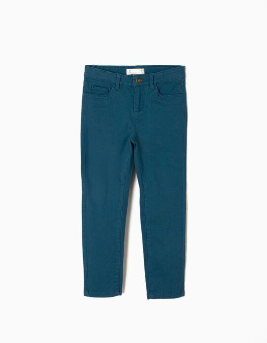Calças de Sarja Azuis