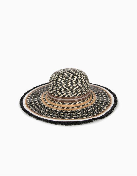 Chapéu de Palha com Padrão, Mulher