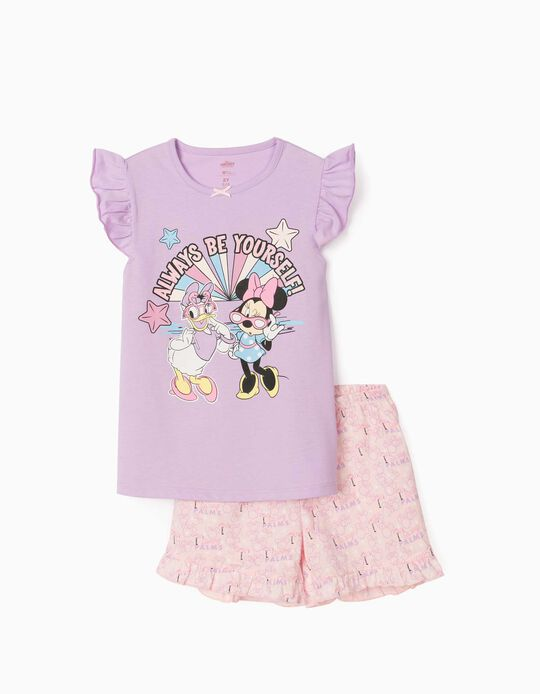 Pyjamas for Girls, 'Minnie Mouse & Daisy', Lilac/Light Pink