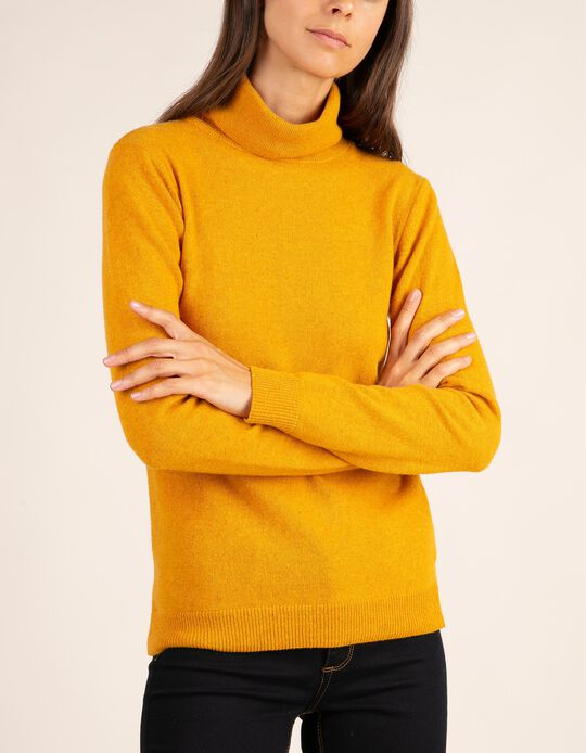 High neck jumper in Baby Wool, Essentials collection