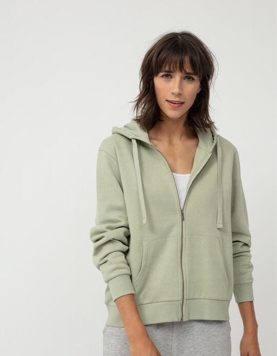Plush Hooded Jacket for Women