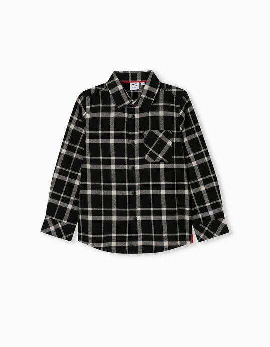Flannel Shirt for Boys, Black