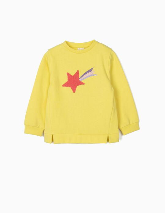 Sweatshirt for Girls 'Star', Yellow