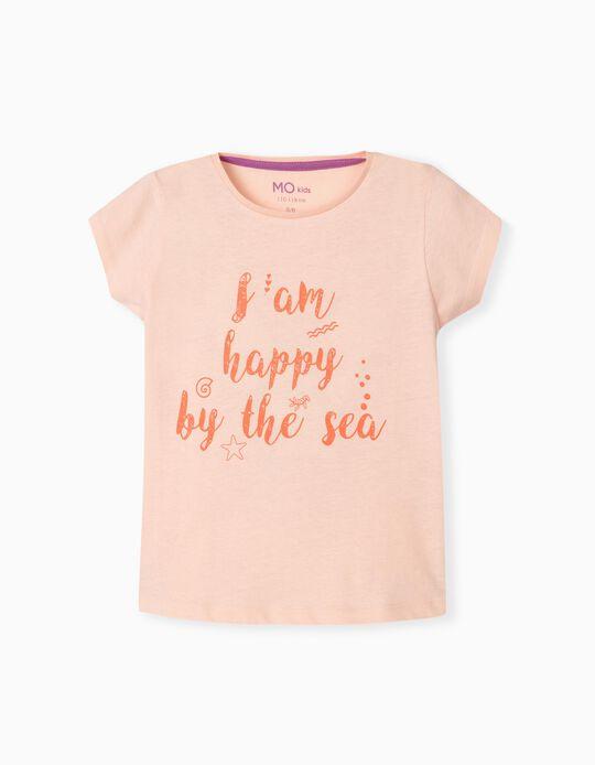 T-shirt para Menina, 'Happy by the Sea'