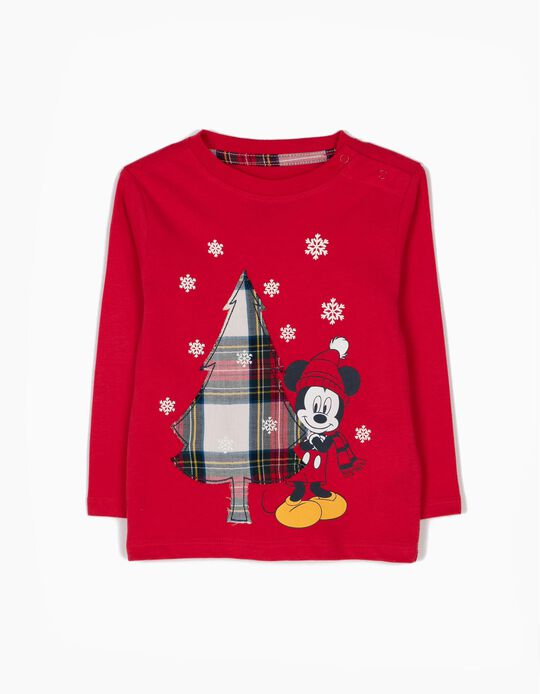 T-shirt Manga Comprida Mickey Christmas