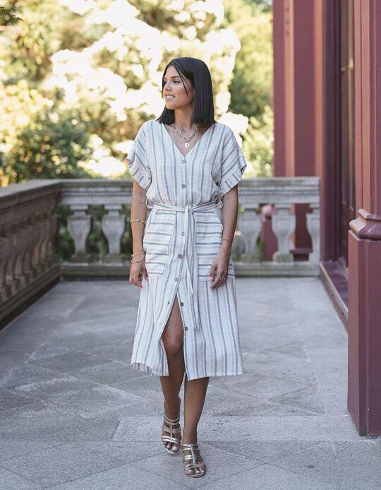 Dress, Linen Blend