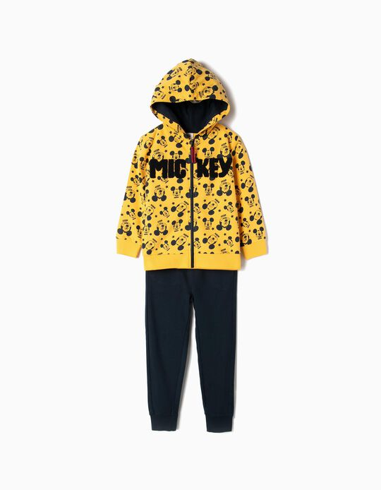 Tracksuit for Boys 'Mickey', Yellow and Dark Blue