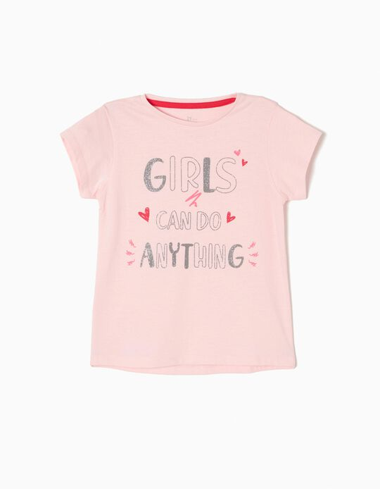 T-shirt Girls Rosa