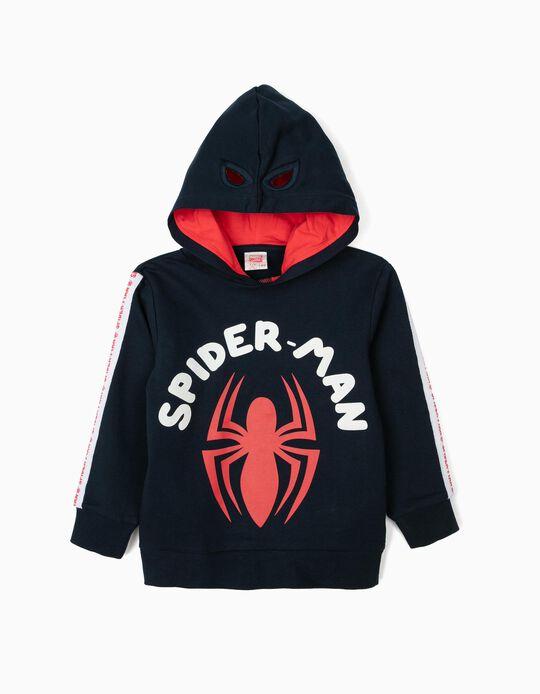 Sweatshirt com Capuz-Máscara para Menino 'Spider-Man', Azul Escuro