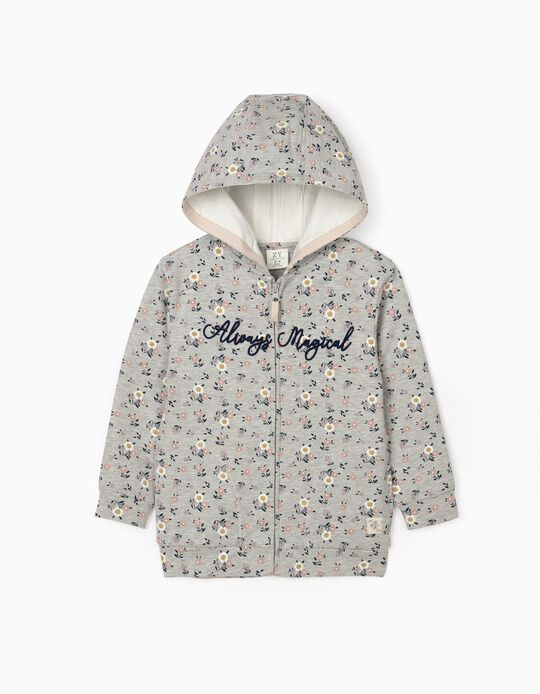 Hooded Jacket for Girls 'Magical', Grey