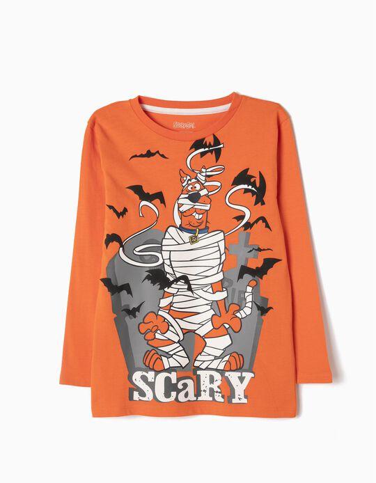 T-shirt Manga Comprida Scooby-Doo Laranja