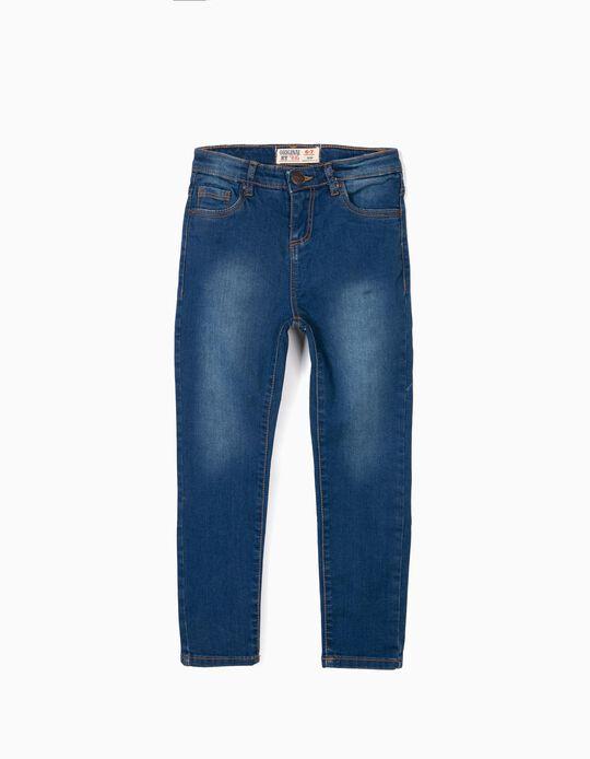 Calças de Ganga para Menina 'ZY Original Slim', Azul