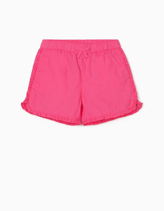 Ruffled Shorts for Girls, Pink