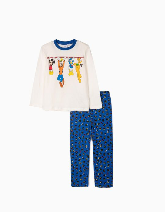 Pyjamas for Boys 'Mickey & Friends', White/Blue