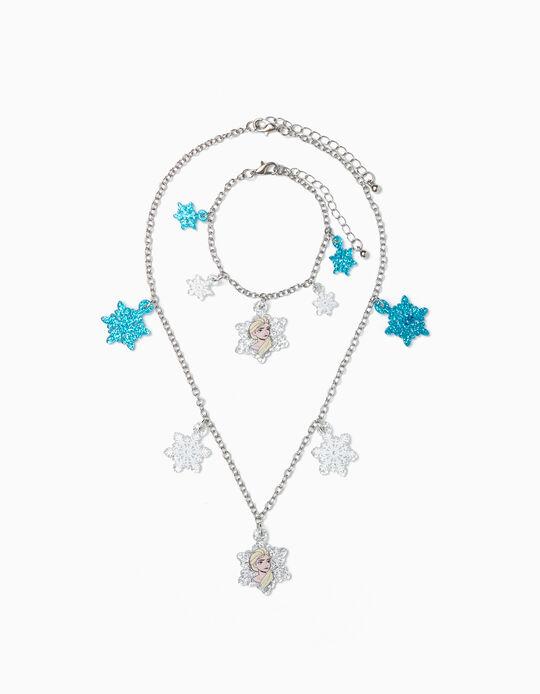 Necklace + Bracelet for Girls 'Frozen', Silver