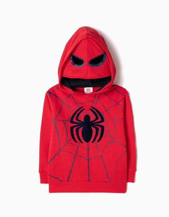 Sweatshirt com Capuz-Máscara Spider-Man