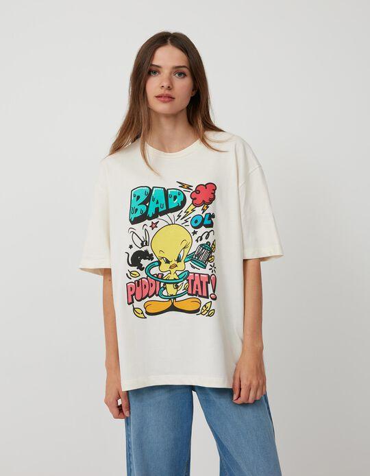 Looney Tunes T-shirt, Women, White