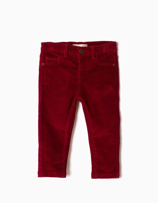Calças Bombazine Vermelho Escuro