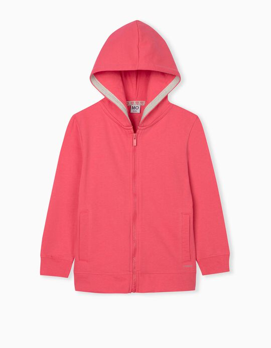 Hooded Jacket for Girls, Pink