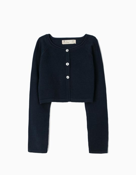 Bolero Jacket for Girls, Dark Blue