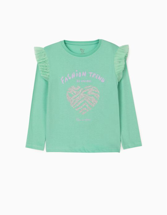 Long Sleeve Top for Girls 'Be Unique', Green