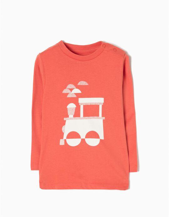 T-shirt Manga Comprida Train