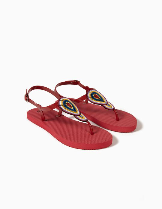 Beach Thong Sandals with Beads