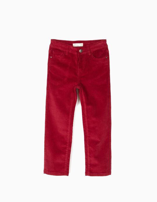 Dark Red Corduroy Trousers