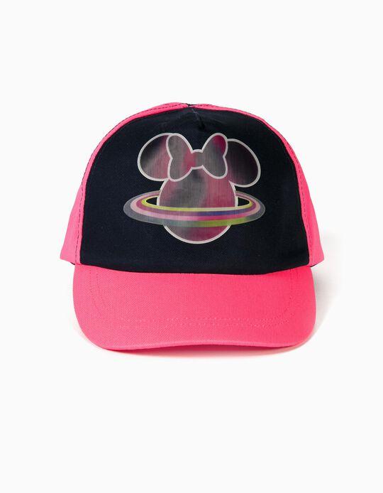 Cap for Girls 'Minnie Planet', Pink/Dark Blue