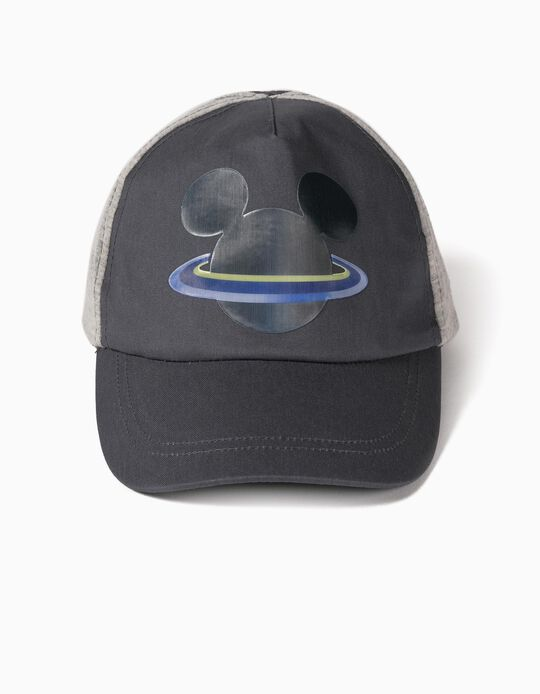 Cap for Boys, 'Mickey Planet', Grey