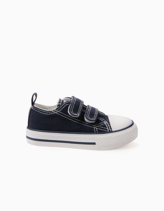 Sapatilhas para Bebé '50's Sneaker' com Velcro, Azul Escuro