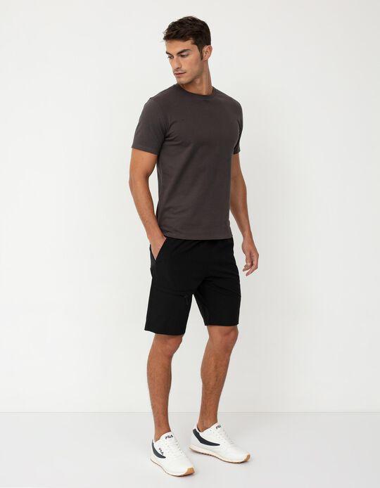 Techno Shorts, Men, Black