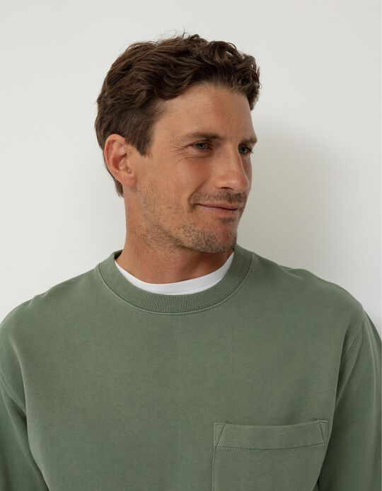 Sweatshirt Lisa, Homem, Verde Claro