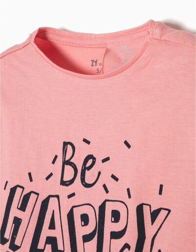 T-shirt Manga Comprida Be Happy