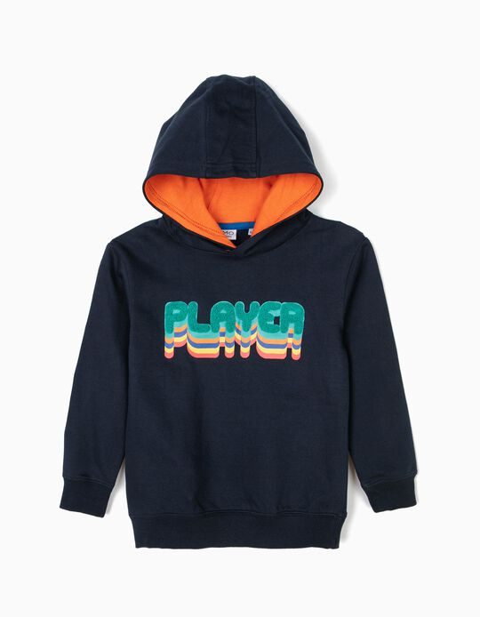 'Player' sweatshirt with hood