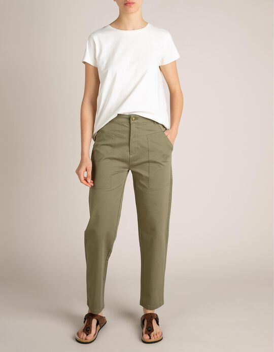 Trousers in Cotton & Elastane